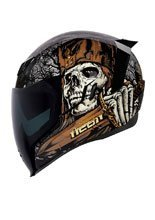 Full face helmet Icon Airflite Uncle Dave - Black