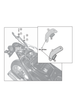 Kit GIVI to install the  PLX1109 without the specific rear rack 1109FZ Honda Integra 700 [12-13]