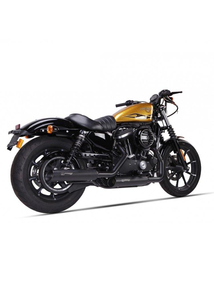 Motorcycle silencer IRONHEAD HC1-3B BLACK for Harley Davidson