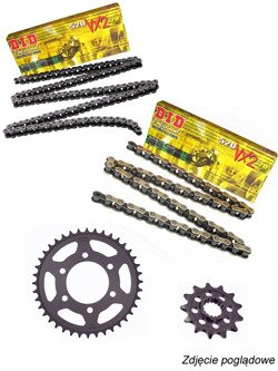 Chain D.I.D.520 VX2 PRO-STREET X-Ring [120 chain link] and SUNSTAR sprocket for Kawasaki VN 650 Vulcan [15-17]