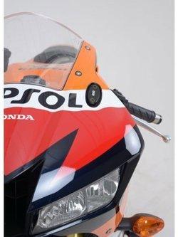 Rear Foot Rest Plates R&G for Honda CB600 Hornet (02-04), CBF600 (04-06), CBR300R (14-20), CBR500R (13-20), CBR600RR (13-16), CBR650R (19-20), VTR1000 SP-1 (All Years), Kawasaki ZX10-R (04-07), Yamaha YZF-R125 (14-18)