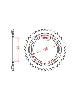 Rear sprocket SUNSTAR 1-3516 [36 tooth]