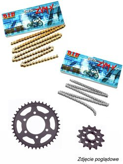 Chain D.I.D 525 ZVM-X SUPER STREET X-Ring [112 chain link] and SUNSTAR sprocket for Aprilia Caponord 1200 [11-16]