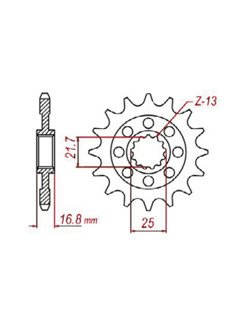 Front sprocket SUNSTAR 3D4 [16 tooth]