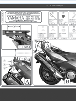 Stelaż pod sakwy miękkie do Yamaha T-MAX 530 (12>16) T-MAX 500 (08 > 11)