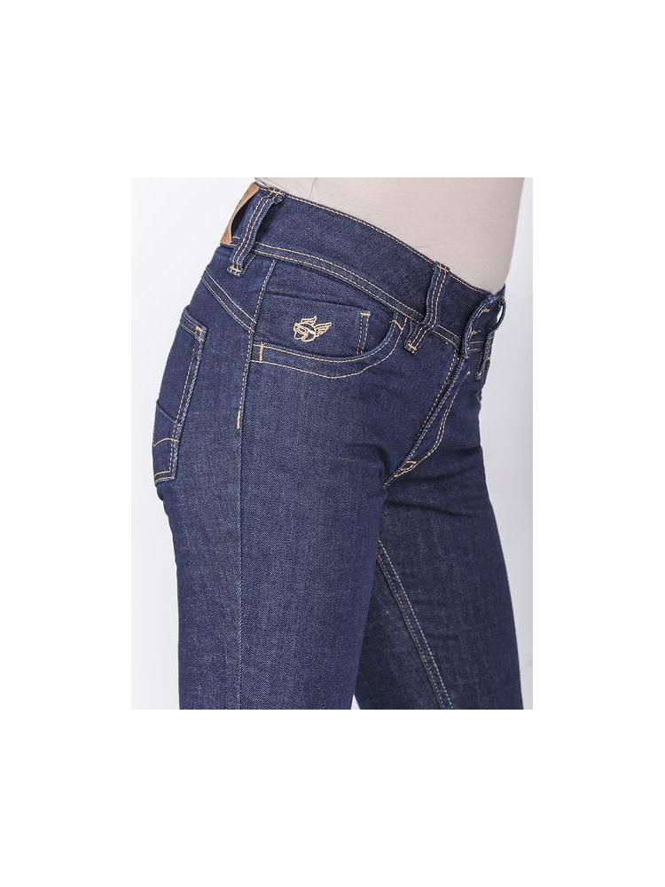Damskie jeansowe spodnie motocyklowe FREESTAR RAYA I [granatowe]