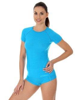 Koszulka damska Brubeck Active Wool z krótkim rękawem