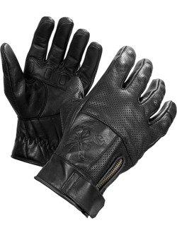 Rękawice motocyklowe skórzane John Doe Shaft - XTM czarny