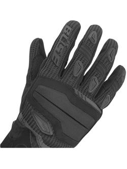 Rękawice motocyklowe teksylne Büse Fresh czarno-białe