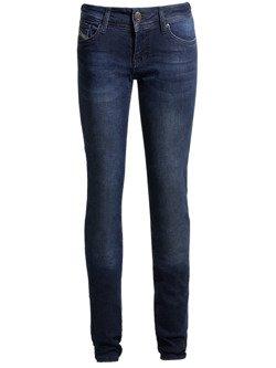 Spodnie motocyklowe jeansowe damskie John Doe High Waist Betty niebieskie