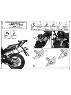 Stelaże do szybkiego demontażu  Givi pod kufry boczne Monokey SIDE do Yamaha FZ1 1000 / FZ1 Fazer 1000 (06 -)