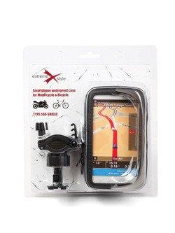 Wodoodporny uchwyt na telefon z etui do motocykla, skutera, quada, roweru - Extreme 148 z daszkiem