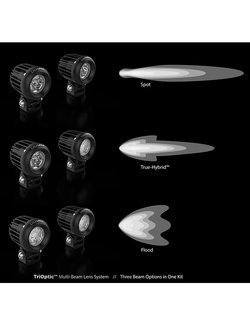 Zestaw lamp LED DENALI 2.0 D2 + soczewki bursztynowe (2 sztuki)