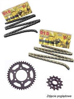 Zestaw napędowy: łańcuch D.I.D. 525 VX PRO-STREET X-Ring [128 ogniwa] oraz zębatki SUNSTAR do BMW S 1000 XR [15-17]