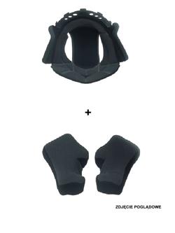 Zestaw poduszek wnętrza kasku (głowa oraz policzki) LAZER Bayamo [rozm.XL]