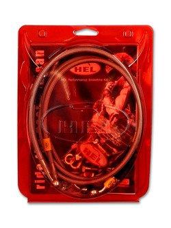 Przewody hamulcowe HEL w oplocie stalowym – układ ABS [PRZÓD] do BMW F650 GS Dakar [02-07]