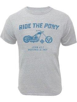 Koszulka motocyklowa John Doe Ride The Pony szara