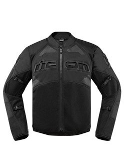 Motocyklowa kurtka tekstylna Icon Contra 2 czarna